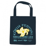 Kokua Festival 2010 Re2 Navy Grocery Tote Bag
