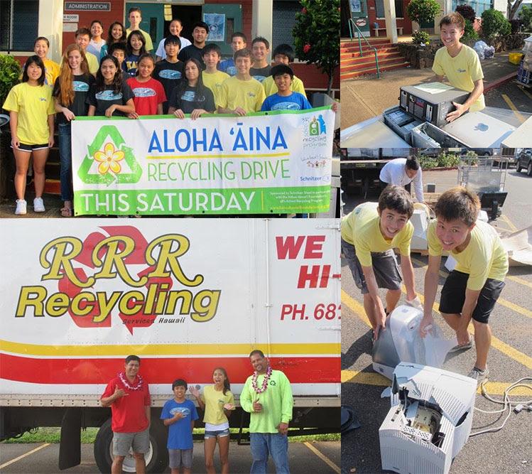 2017-18 Aloha ʻĀina Recycling Drives : Kokua News : Kokua